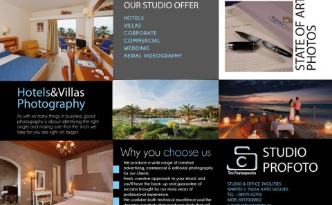 Profoto Photographer Tri-Fold Brochure
